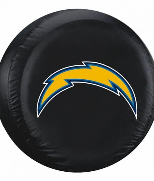 San Diego Chargers Bolt Logo: San Diego Chargers Black Bolt Logo Tire Cover