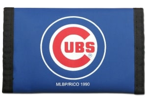 Chicago Cubs Blue Nylon Trifold Wallet