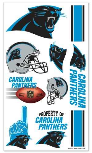 Carolina panthers temporary tattoos detroit game gear for Carolina panthers tattoos