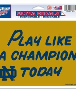 """Notre Dame Fighting Irish 5""""x6"""" Color Ultra Decal - Play Like A Champion Today"""