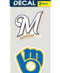 Milwaukee Brewers Set of 2 Die Cut Decals
