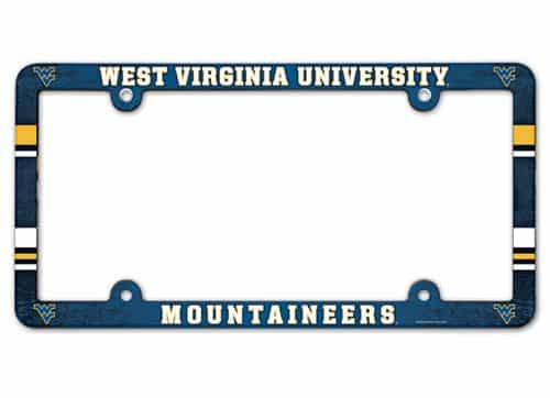 West Virginia Mountaineers License Plate Frame Full