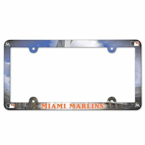 Miami Marlins License Plate Frame Full Color Detroit