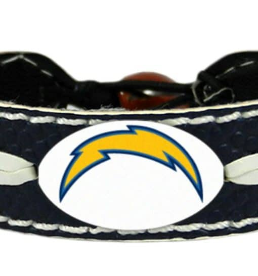 San Diego Chargers Colors: San Diego Chargers Team Color Football Bracelet