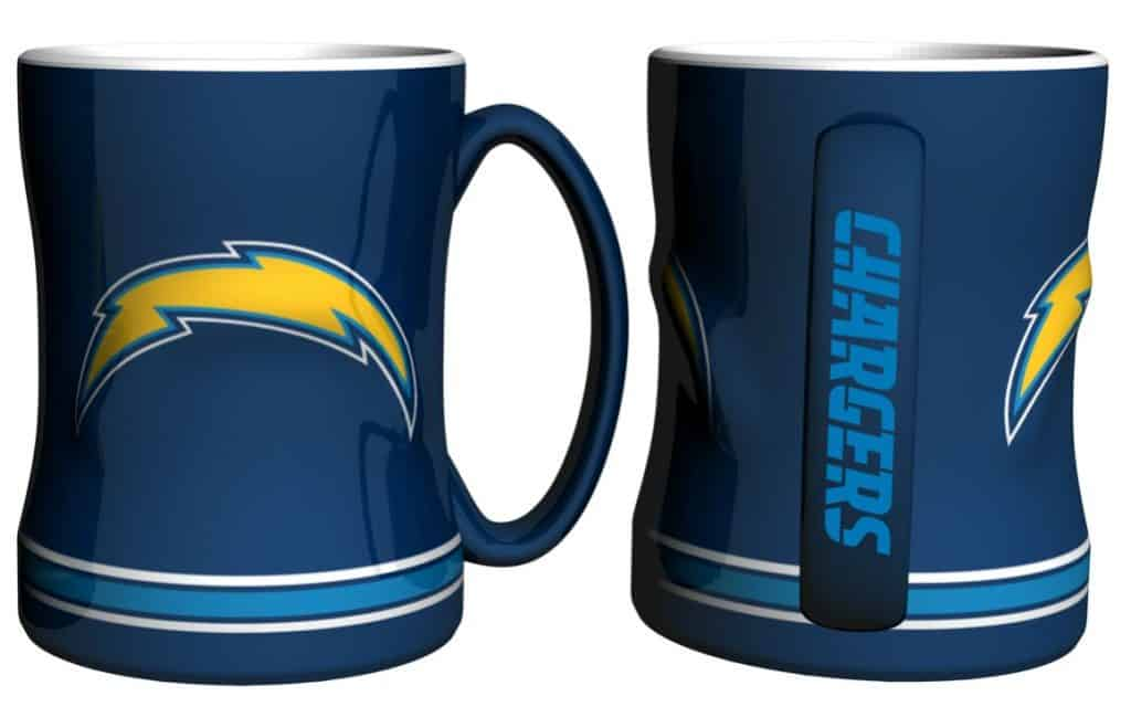 San Diego Chargers Coffee Mug 14oz Sculpted Detroit
