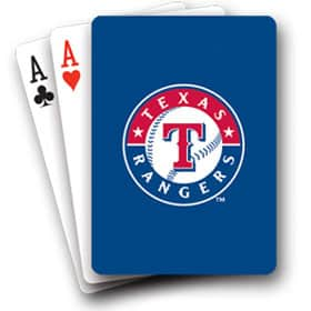 Texas Rangers Playing Cards Diamond Plate