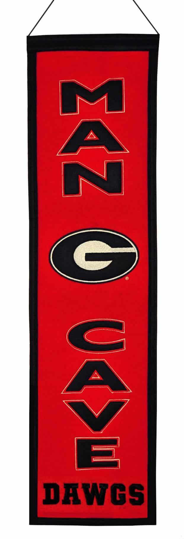 Man Cave Vs Bulldog : Georgia bulldogs wool man cave banner detroit game gear