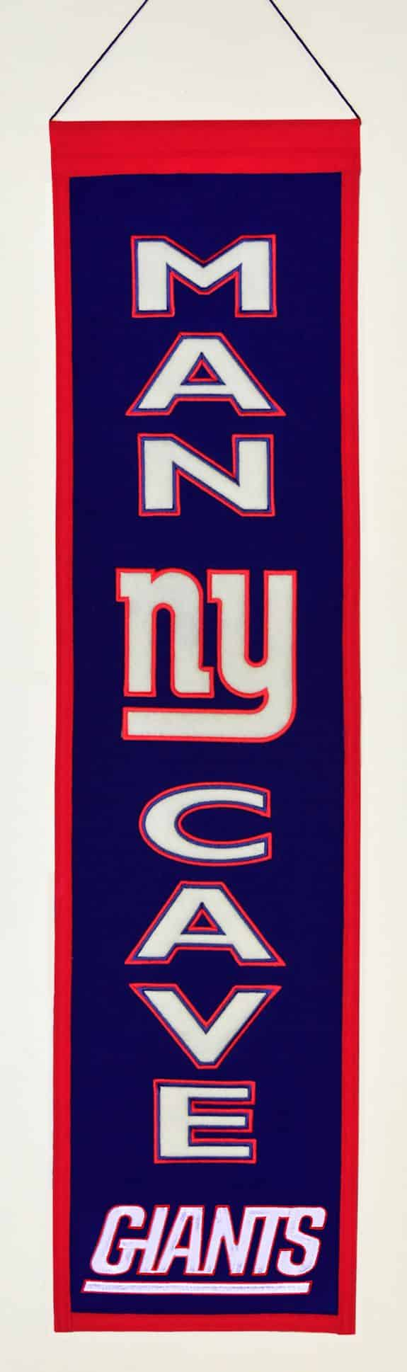 Ny Giants Man Cave Ideas : New york giants wool man cave banner detroit game gear