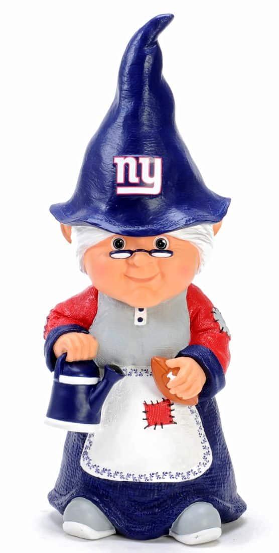 """Female Garden Gnomes: New York Giants Garden Gnome 11"""" Female"""
