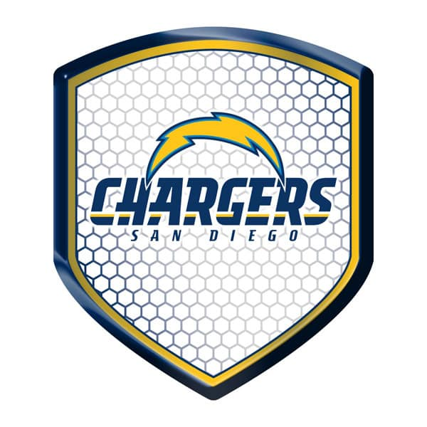 San Diego Chargers Shield Style Reflector Detroit Game Gear