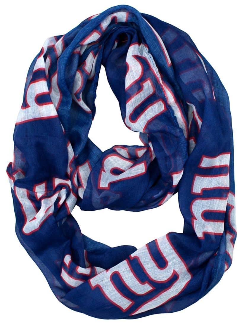 new york giants infinity scarf detroit game gear. Black Bedroom Furniture Sets. Home Design Ideas
