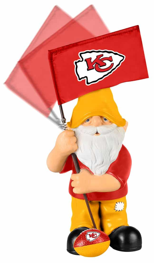 Kansas City Chiefs Springy Flag Gnome Detroit Game Gear