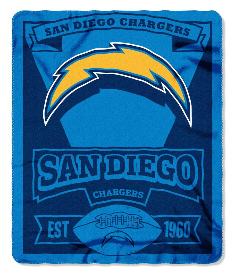 San Diego Chargers Blanket: San Diego Chargers 50x60 Fleece Blanket