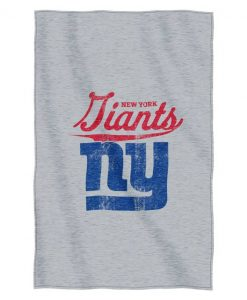 "New York Giants 54""x84""Sweatshirt Blanket - Script Design"