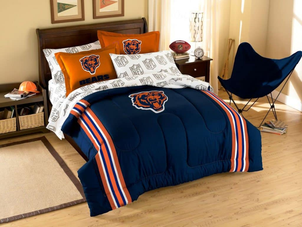 chicago bears bed in a bag full size detroit game gear. Black Bedroom Furniture Sets. Home Design Ideas