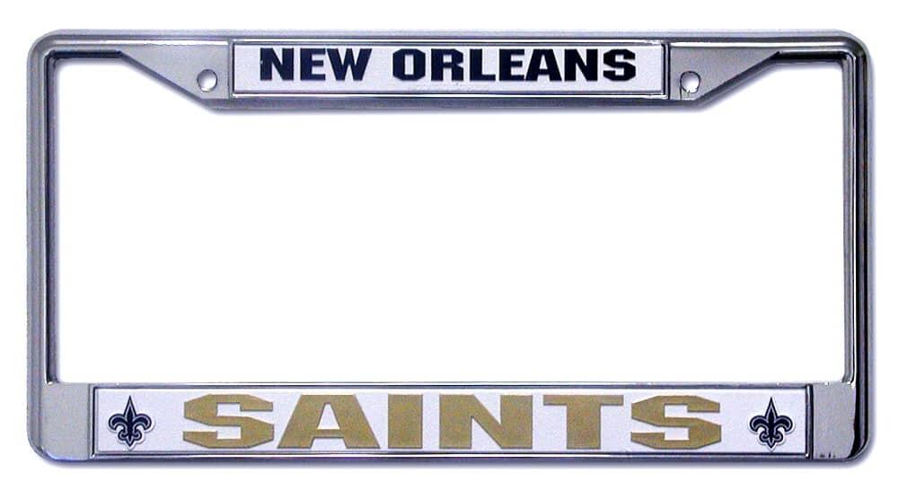 New Orleans Saints Chrome License Plate Frame Detroit