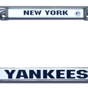 New York Yankees Chrome License Plate Frame Detroit Game