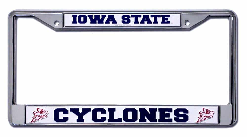 Iowa State Cyclones Chrome License Plate Frame - Detroit Game Gear