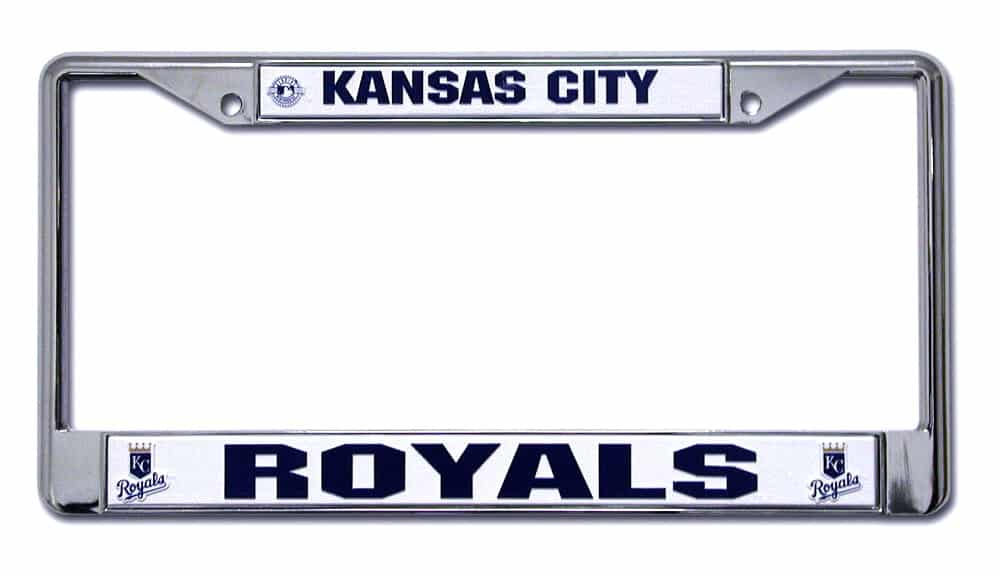 Kansas City Royals Chrome License Plate Frame Detroit