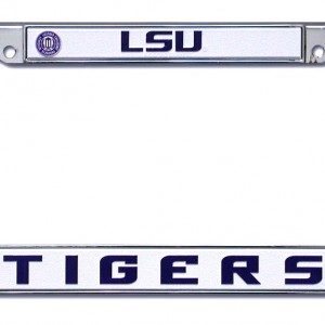 Lsu Tigers Chrome License Plate Frame Detroit Game Gear