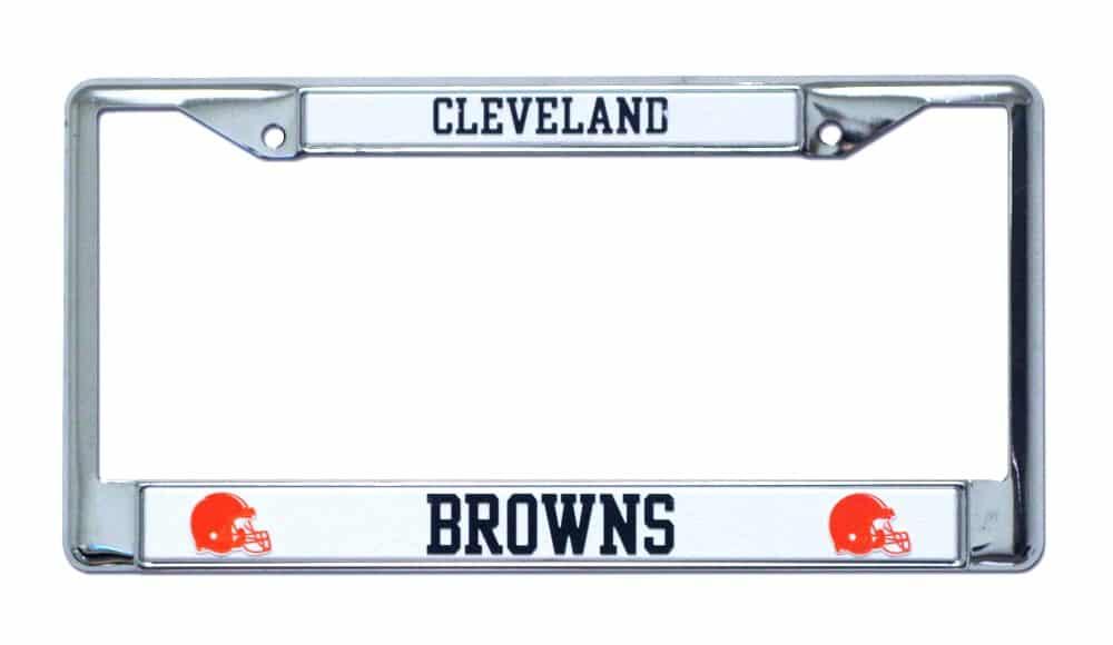 Cleveland Browns Chrome License Plate Frame Black