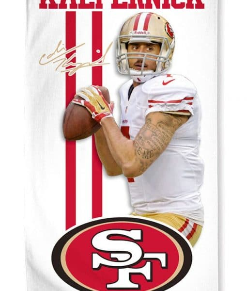San francisco 49ers colin kaepernick towel detroit game gear for 49ers bathroom decor