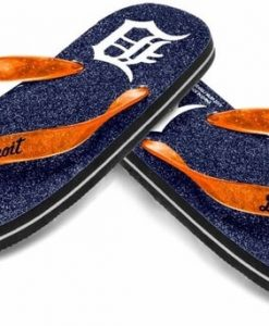 Detroit Tigers Navy Blue Glitter Sandals