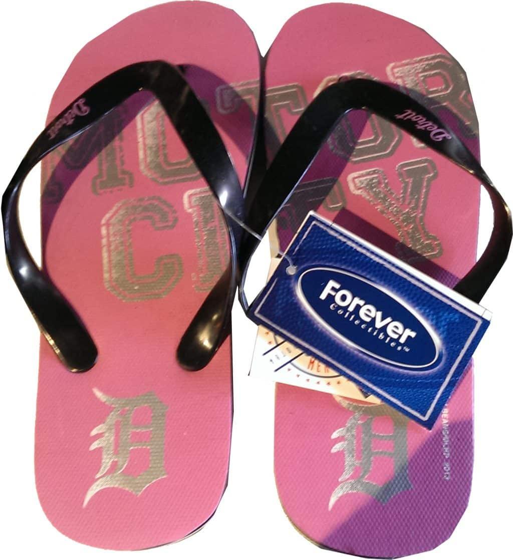 Detroit Tigers Pink Sandals