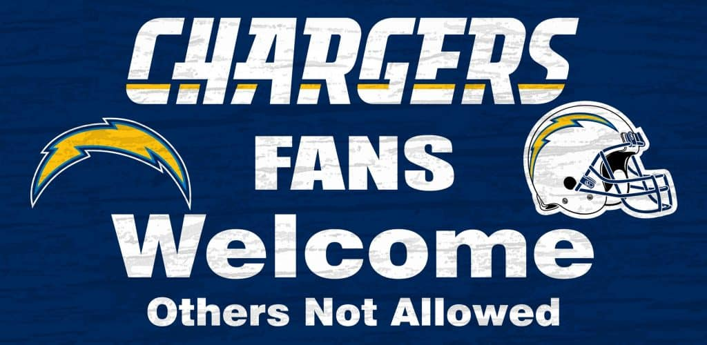 San Diego Chargers Wood Sign Fans Welcome 12 Quot X6