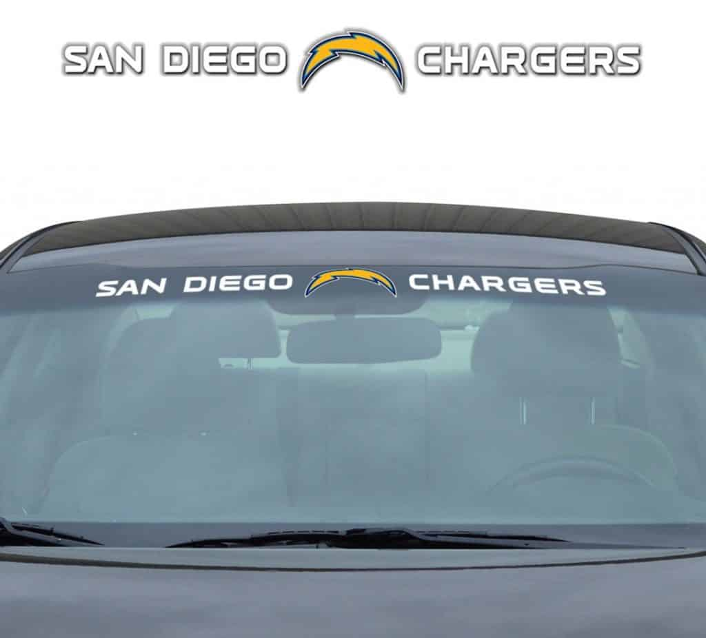 """San Diego Chargers Decal: San Diego Chargers 35""""x4"""" Windshield Decal"""