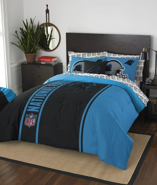 carolina panthers soft cozy full size bed in a bag detroit game gear. Black Bedroom Furniture Sets. Home Design Ideas