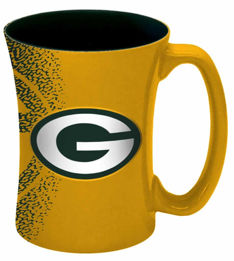 Green Bay Packers 14 oz Mocha Coffee Mug