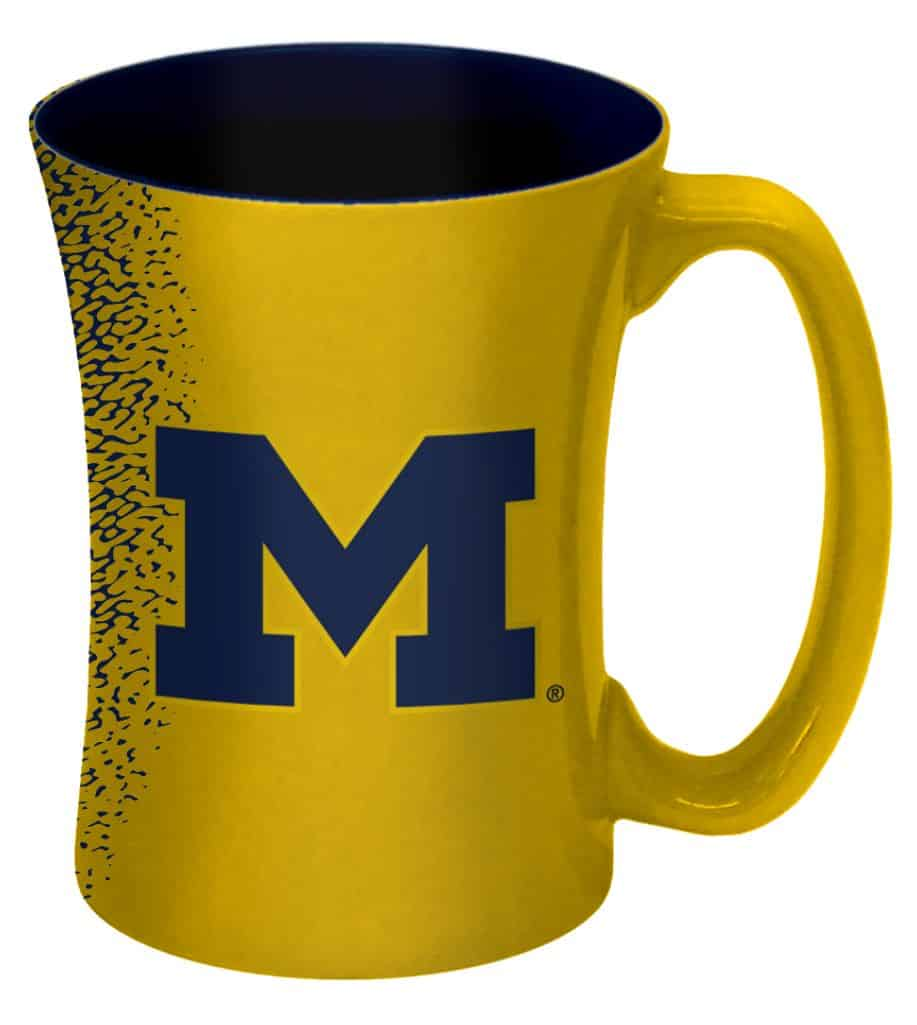 Michigan Wolverines 14 oz Mocha Coffee Mug