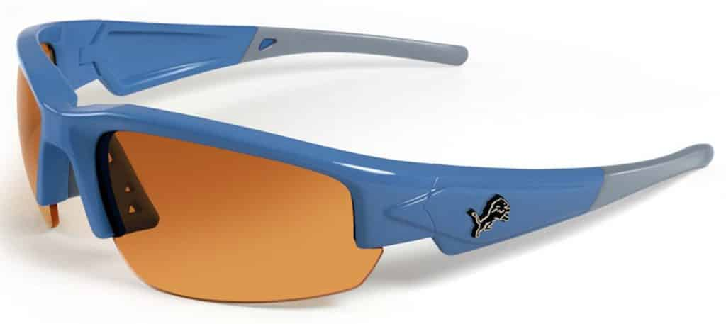 Detroit Lions Sunglasses - Dynasty 2.0 Blue with Grey Tips