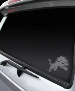 Detroit Lions Chrome Window Graphic Decal