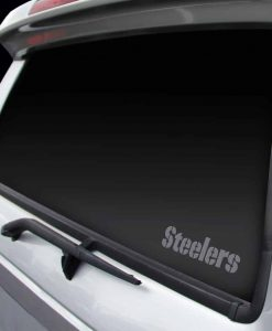 Pittsburgh Steelers Chrome Window Decal - Wordmark