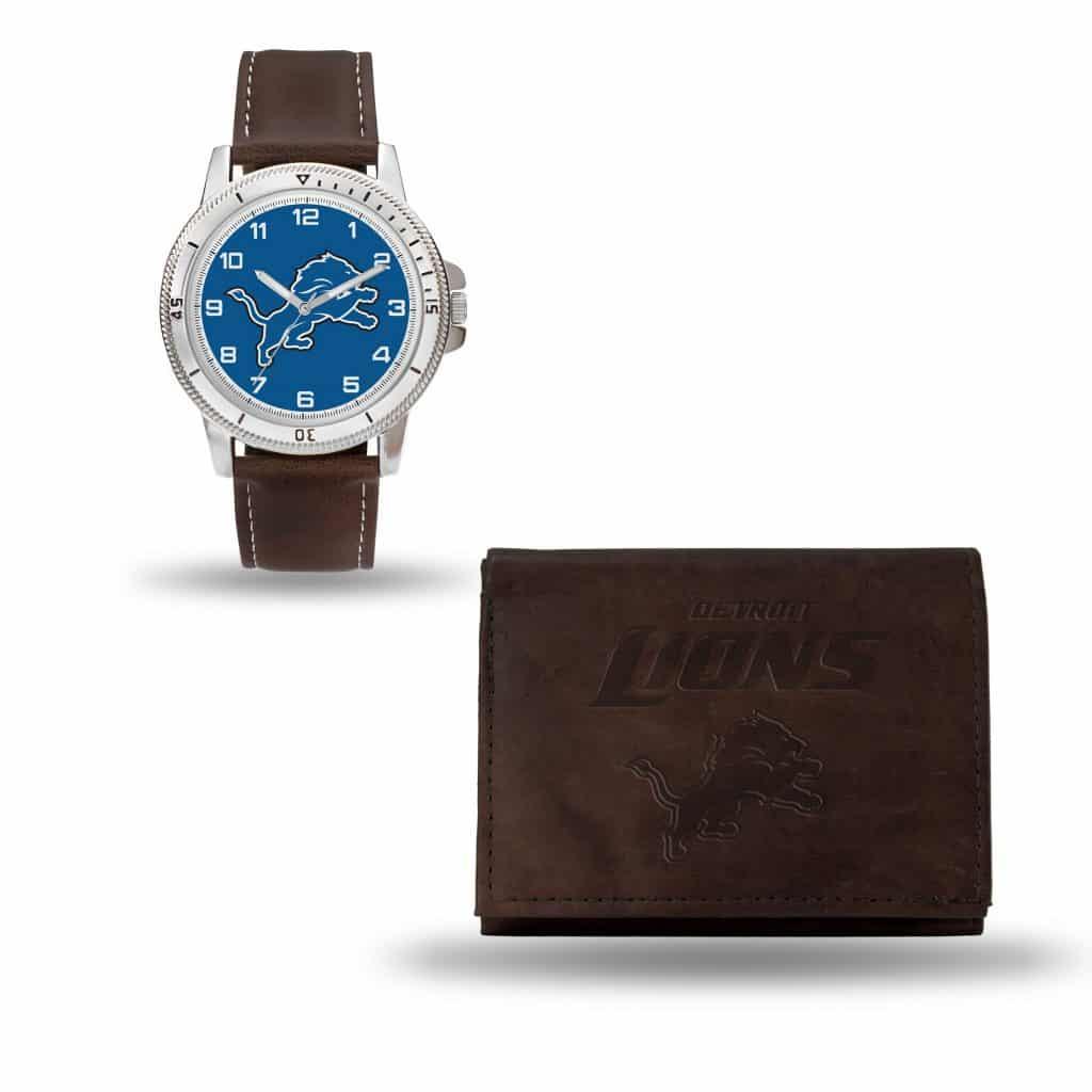 Detroit Lions Watch/Wallet Gift Set