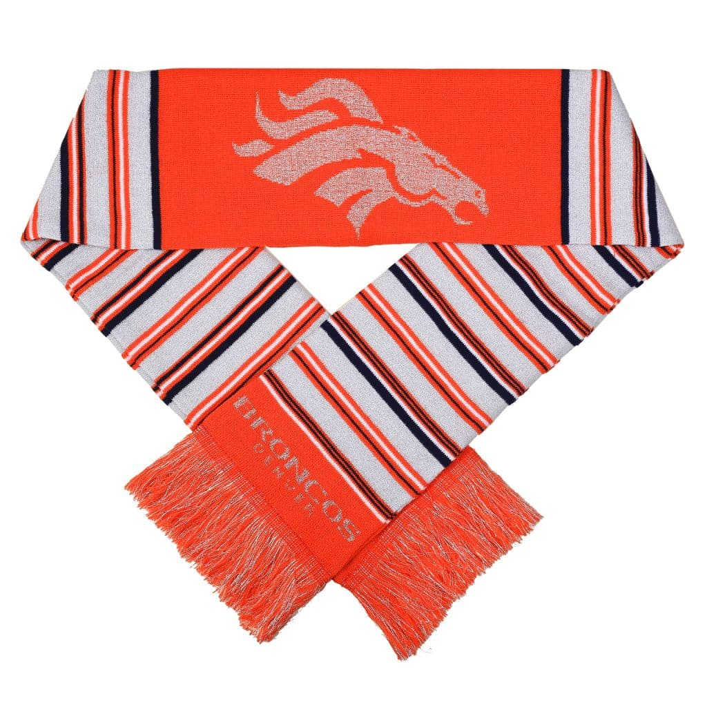 Broncos Glitter Stripe Scarf