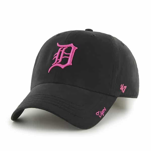 Detroit Tigers 47 Brand Womens Black & Pink Miata Clean Up Adjustable Hat