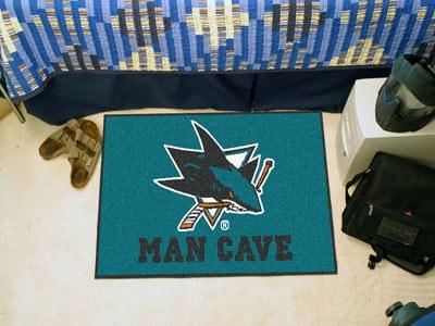 """San Jose Sharks Man Cave Starter Rug 19""""x30"""""""