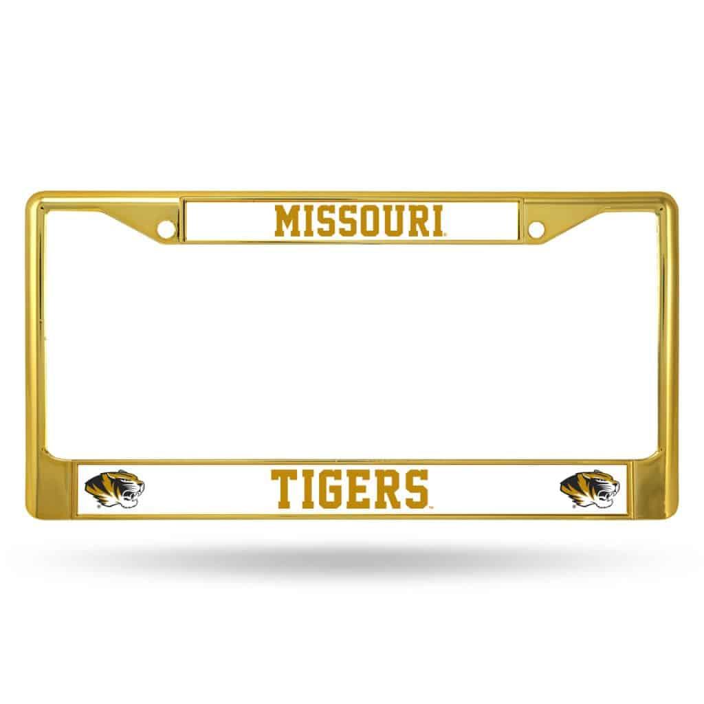 Missouri Tigers Metal License Plate Frame Gold Detroit