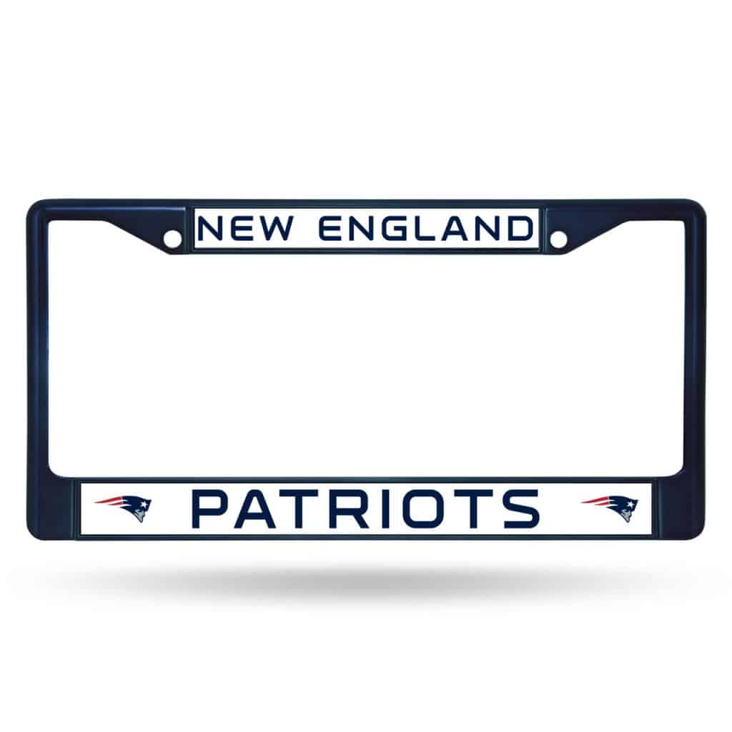 New England Patriots Metal License Plate Frame Navy