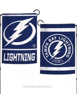 Tampa Bay Lightning Flag 12x18 Garden Style 2 Sided