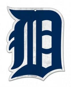 "Detroit Tigers Wood Sign - 11""x14"" - Old English D"