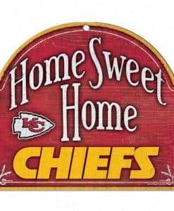 Kansas City Chiefs Wincraft Home Sweet Home Wood Sign