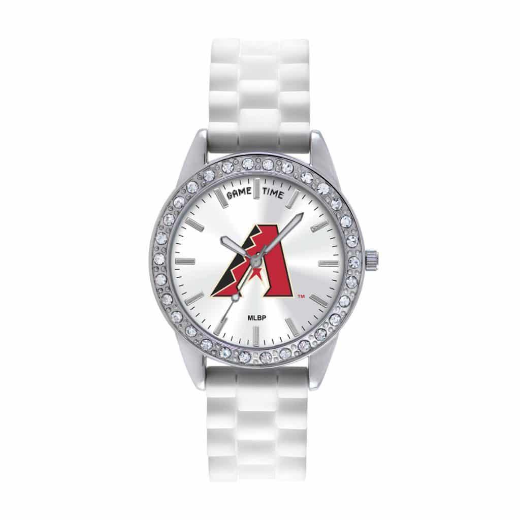 Arizona Diamondbacks Ladies Quartz Analog Frost Watch