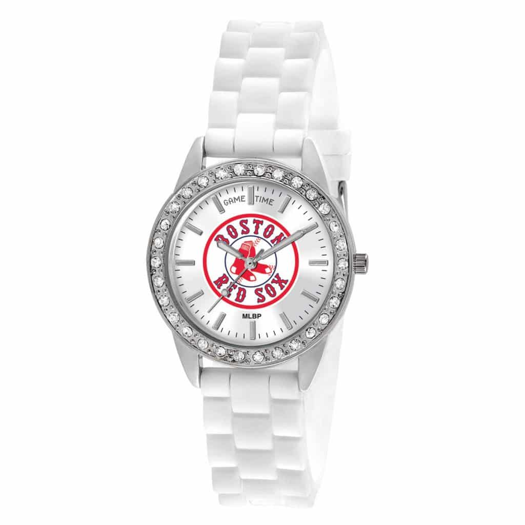 Boston Red Sox Logo Ladies Quartz Analog Frost Watch