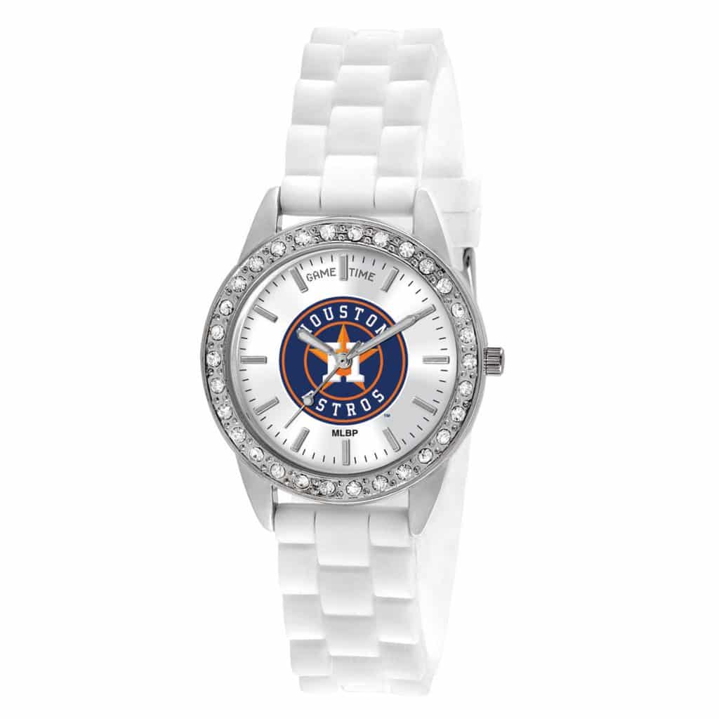 Houston Astros Ladies Quartz Analog Frost Watch