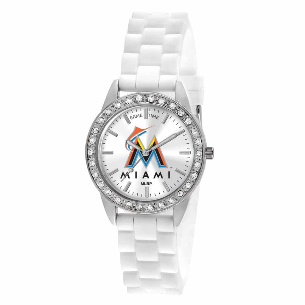 Miami Marlins Ladies Quartz Analog Frost Watch