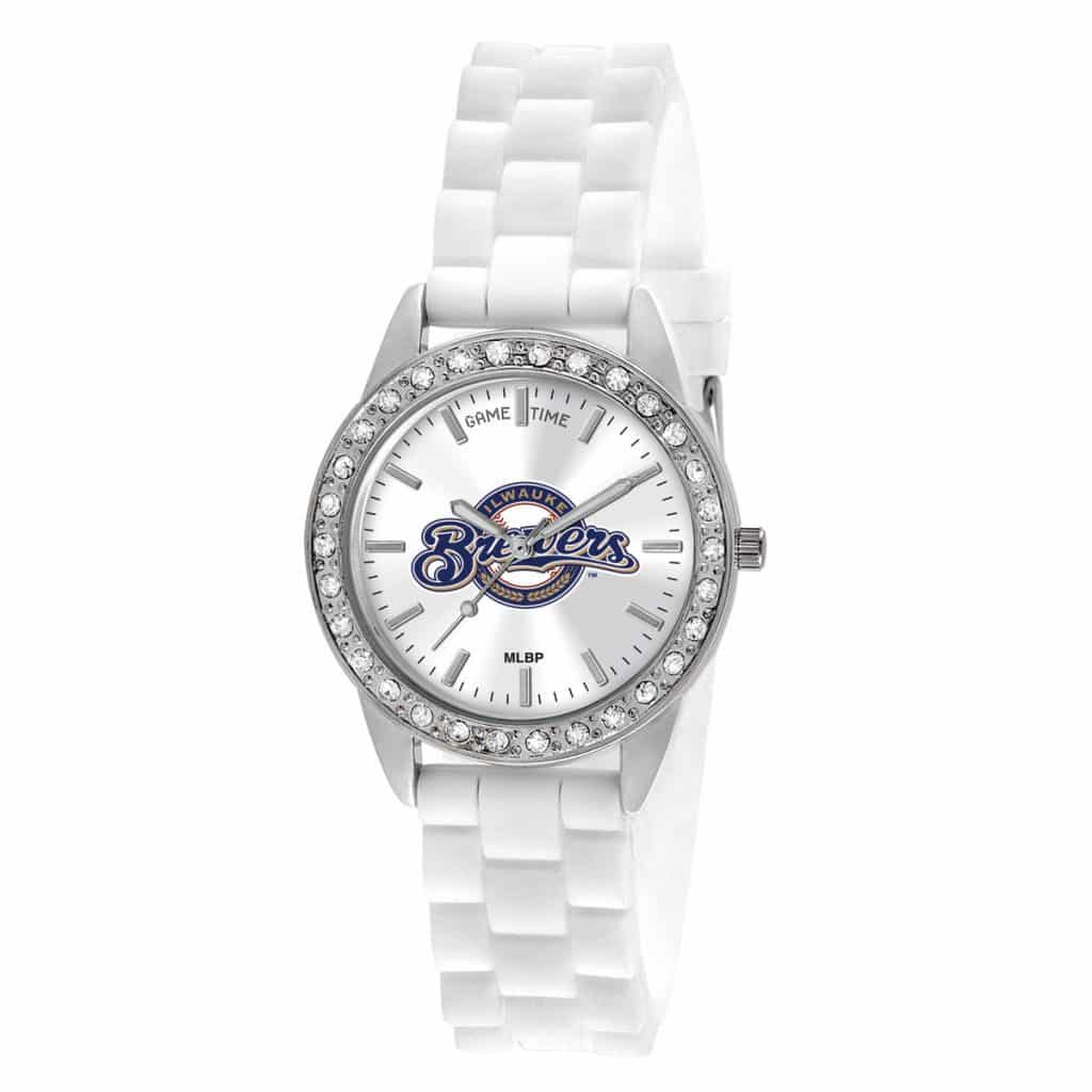 Milwaukee Brewers Ladies Quartz Analog Frost Watch